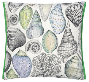 Designers Guild Shell Bay Outdoor Cobalt Decorative Pillow