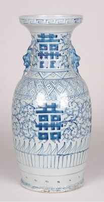 Blue & White Double Happiness Vase