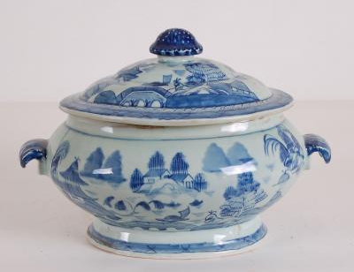 Blue & White Canton Tureen
