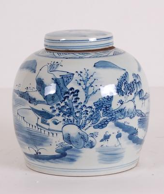 Blue & White Melon Jar