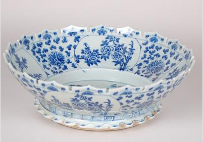 Blue & White Monteith Bowl