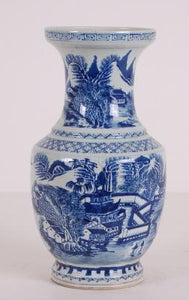 Blue & White Canton Vase