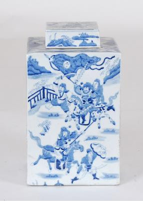 Blue & White Tea Jar