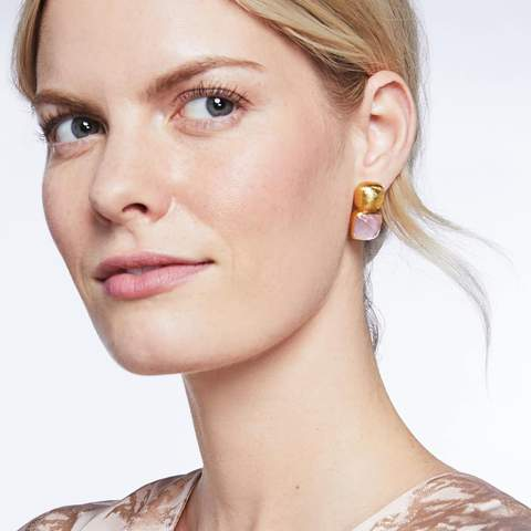 Catalina Earring | Iridescent Rose