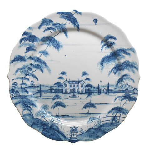 Country Estate Delft Blue Charger Main House