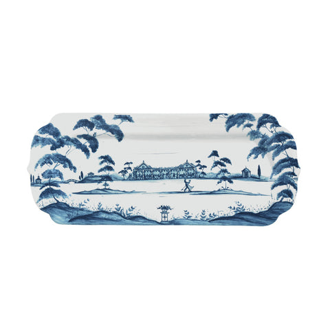 Country Estate Delft Blue Hostess Tray Garden Party