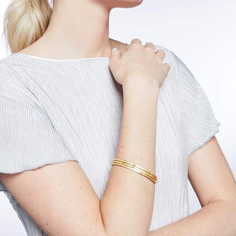 Crescent Bangle | Pearl