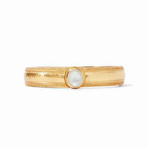 Coin Hinge Bangle | Pearl