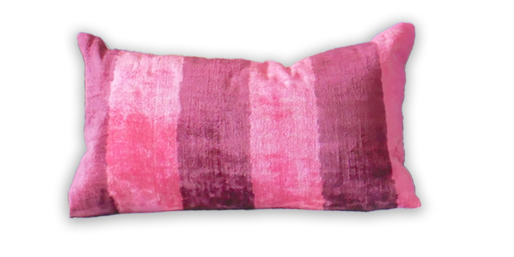 Cranberry Stripe Velvet Pillow | Pair available