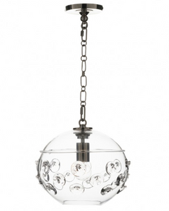 Florence Globe Pendant in Nickel