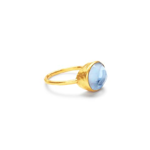 Honey Stacking Ring | Chalcedony Blue
