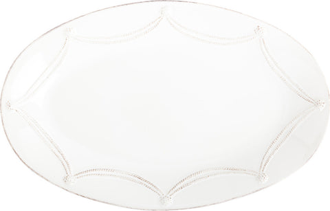 "Berry & Thread Whitewash 18"" Oval Platter"