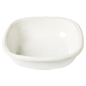 "Le Panier Whitewash 9"" Square Serving Bowl"