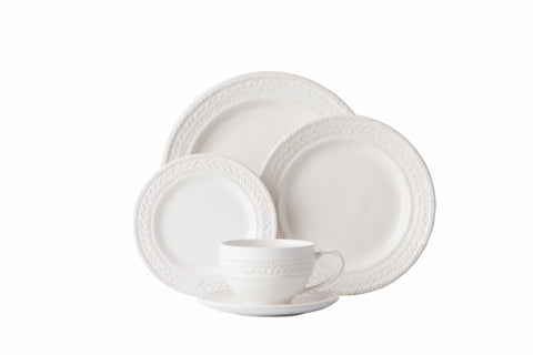 Berry & Thread Whitewash 5pc. Place Setting