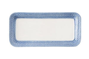 Le Panier White/Delft Blue Hostess Tray