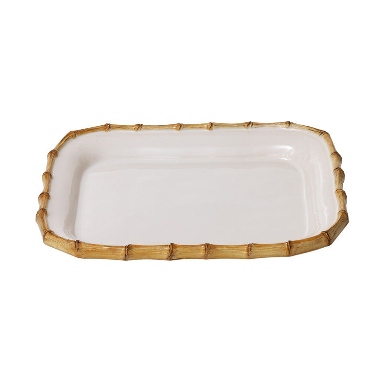 Classic Bamboo Natural 12'' Rectangular Platter
