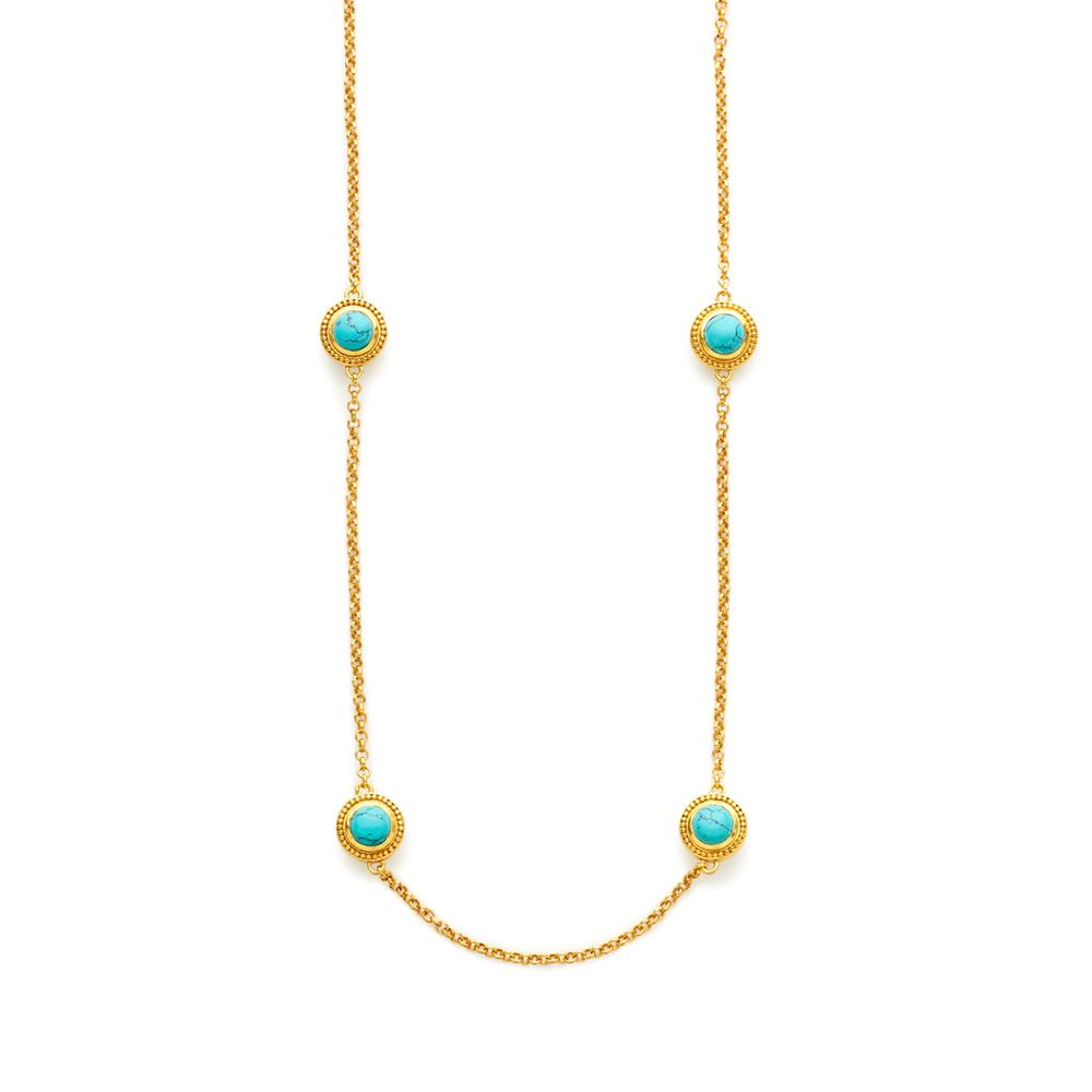 Loire Station Necklace | Turquoise Blue