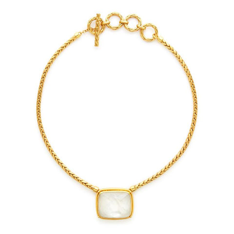 Monterey Statement Necklace | Iridescent Clear Crystal