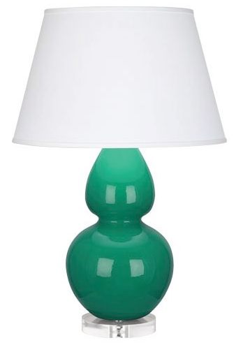 Emerald Double Gourd Table Lamp