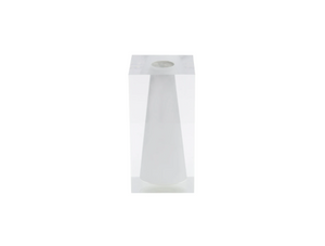Acrylic Block Bud Vase, Large | Hamptons White