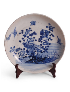 BLUE AND WHITE BIRD AND FLOWER CHARGER