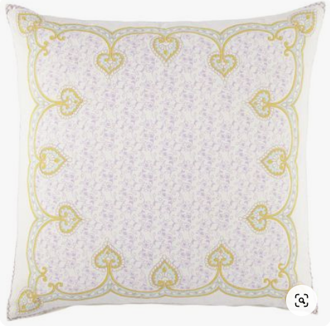 English Garden Nahar Hand-Embroidered Pillow by John Robshaw