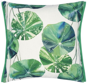BRAHMI OUTDOOR LEAF DECORATIVE PILLOW