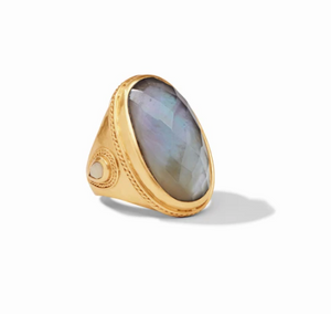 Cassis Statement Ring | Iridescent Slate Blue