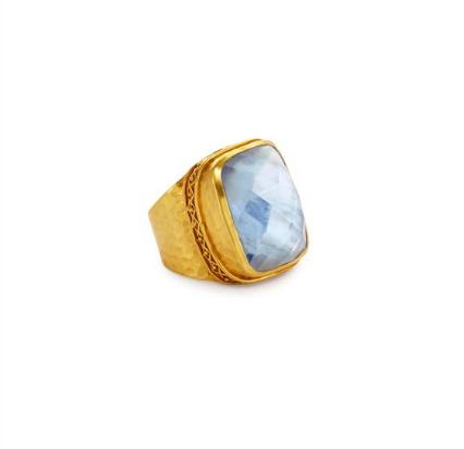 Catalina Statement Ring | Iridescent Chalcedony Blue
