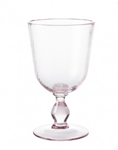 Arabella Petal Pink Footed Goblet