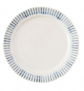 Sitio Stripe Indigo Dessert/Salad Plate Set/4