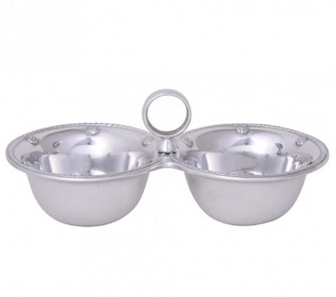 Berry & Thread Metalware Double Bowl Server