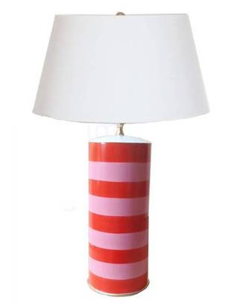 Stacked Tole Lamp | Pink/Orange