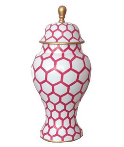 Ginger Jar, Small in Pink Mesh
