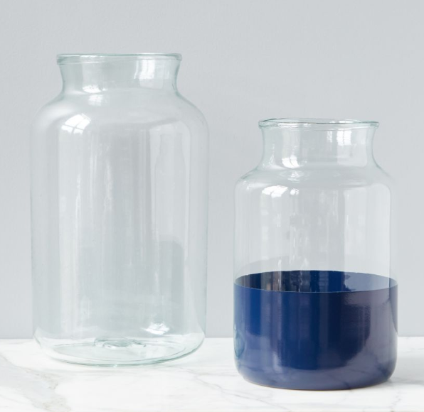 Colorblock Mason Jars | Navy or Gray
