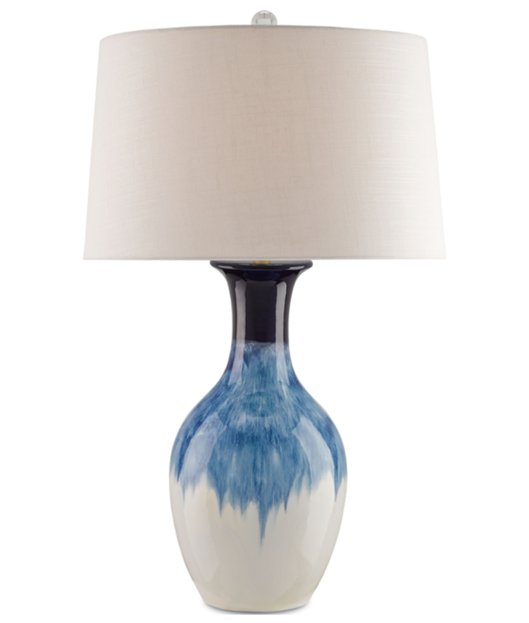 Fete Table Lamp with Cobalt Finish