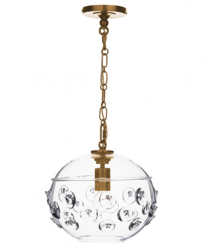 Florence Globe Pendant | Brass or Nickel