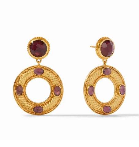 Olympia Statement Earring | Bordeaux