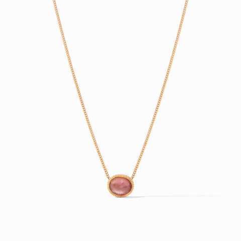 Verona Solitaire Necklace | Bordeaux
