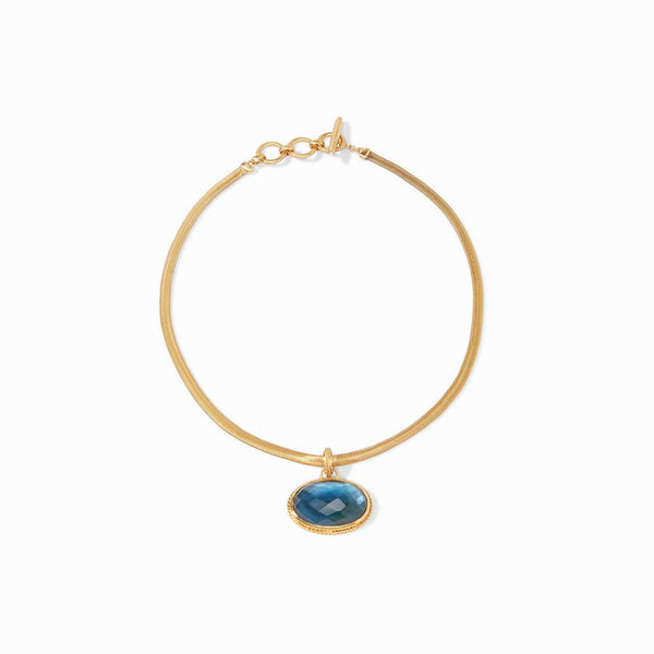 Verona Statement Necklace | Iridescent Azure Blue