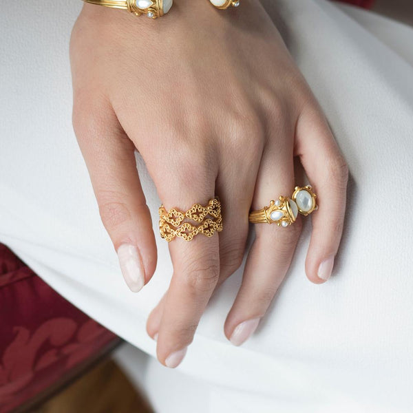 Florentine Stacking Ring | More sizes available