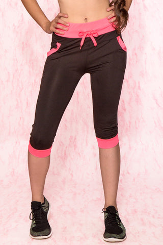 Pink Color Block Pants