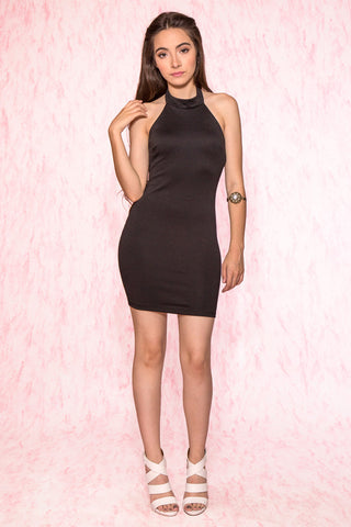 Bardot Halter Neck Bodycon