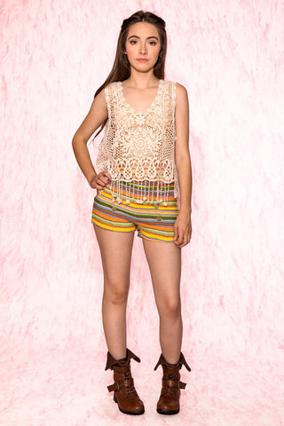 Christie Crochet Knitted Shorts