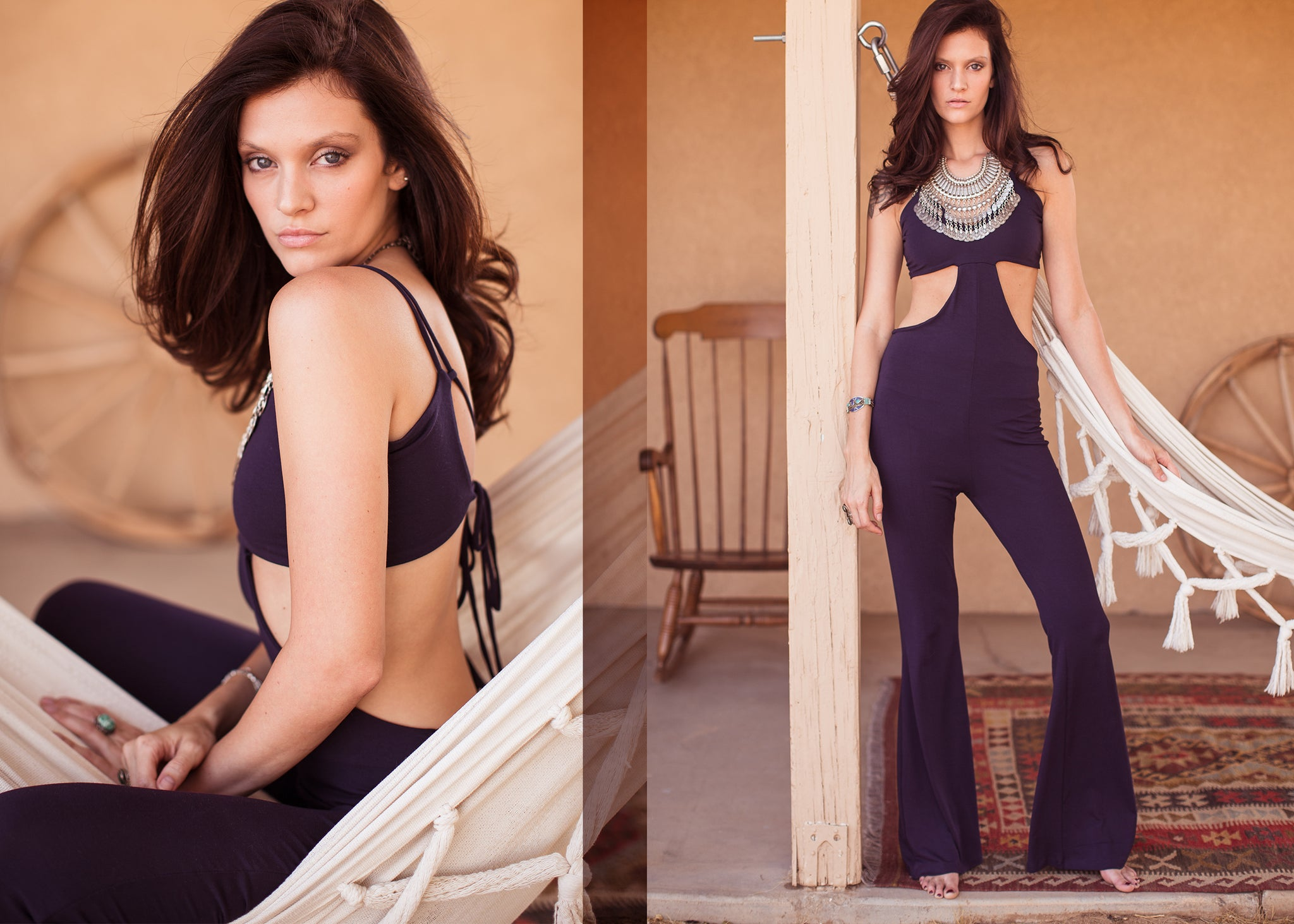 Hapa Clothing- Gina Cutout Jumpsuit in Desert