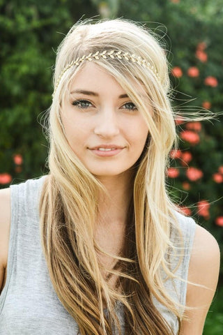 Bohemian Goddess Headband-Gold Leaf - Hapa Clothing