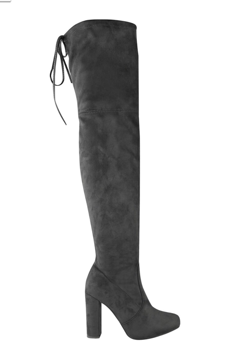 Khaleesi Thigh High Boots- Grey - Hapa Clothing - 3