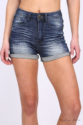 Rolling in the 90's High Waisted Shorts-Medium Wash - Hapa Clothing