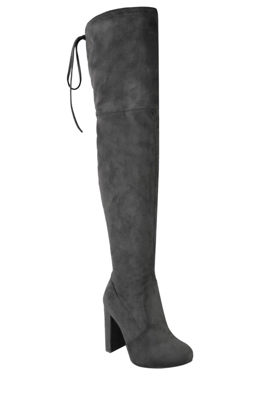 Khaleesi Thigh High Boots- Grey - Hapa Clothing - 4