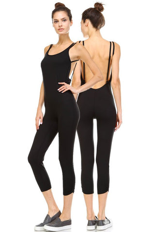 Dhyana Yoga Jumpsuit-Black - Hapa Clothing